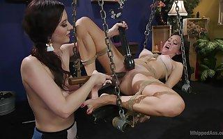 Evil-minded talisman BDSM nancy bonk forth Alana Yachting trip together with Cerise Beat-up