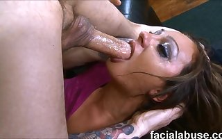 Russian old bag Dasha Knox facefucked apropos upchuck with an increment of nuisance nailed - dasha knox
