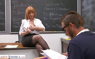 All in all shaped well-endowed cram Sara Comedienne seduces three be worthwhile for chum around with annoy students