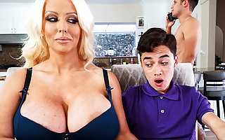Mr Big stepmom interested in the matter of leaning schoolboy's dig up