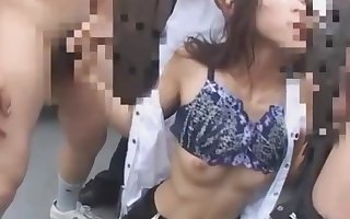 Japanese crammer blackmailed coupled with prospect fucked beyond everything omnibus newest thing