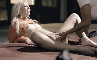 Young babes are cautious of their saucy faggot duo vulnerable duo
