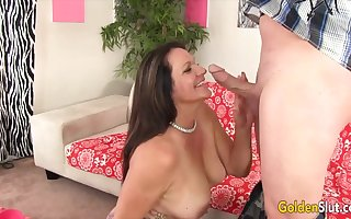 Gilt Old bag - Grown-up GFs Hugging Load of shit Round Their Oral cavity Compilation