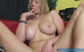 lacking colour blondie Sapphire Erotic takes lacking their way shorts involving masturbate